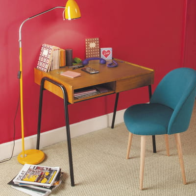 look r tro 20 petits bureaux gain de place journal des femmes. Black Bedroom Furniture Sets. Home Design Ideas
