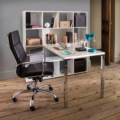 avec biblioth que 20 petits bureaux gain de place journal des femmes. Black Bedroom Furniture Sets. Home Design Ideas