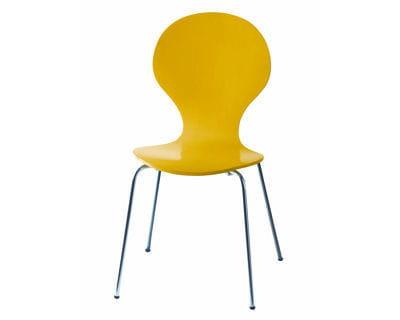 une chaise en arrondi 10 meubles et objets jaunes journal des femmes. Black Bedroom Furniture Sets. Home Design Ideas