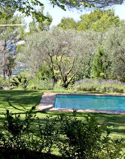piscine dans une villa modernisée