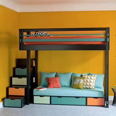La mezzanine l 39 astuce gain de place du mobilier malin - Lit gain de place adulte ...