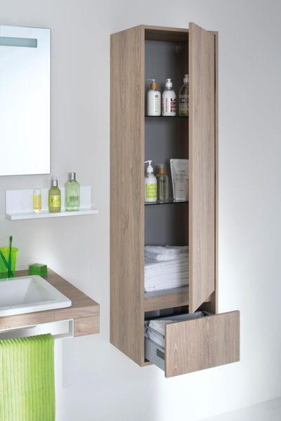 Colonne mixcity sanijura le bon mobilier pour une petite for Petit mobilier salle de bain