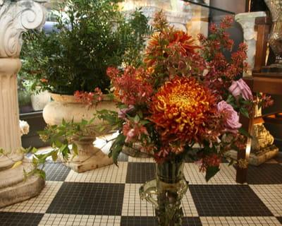 bouquet réalisé par majid moghammad, styliste des fleurs chez muse