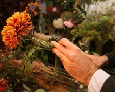 nettoyer les tiges des fleurs