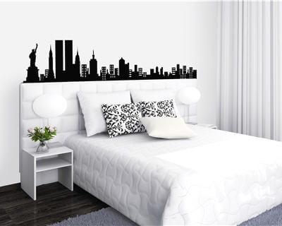T te de lit urbaine - Decoration new york chambre ...