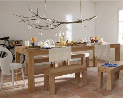 Une table l 39 esprit nature 10 belles tables pour votre for Salle a manger nature