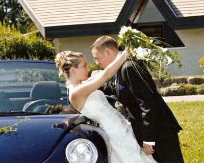 le mariage 'bleu azur' d'emilie