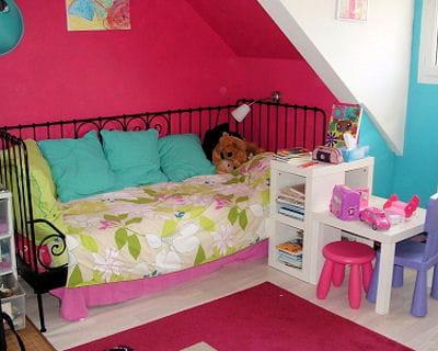 Effets nuanc s - Chambre rose et turquoise ...