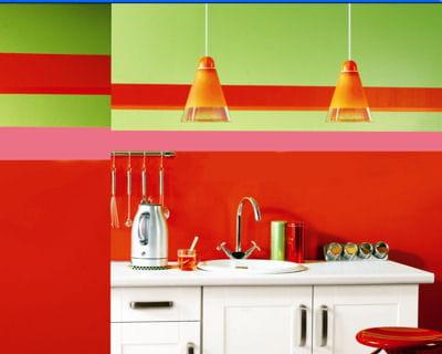 une cuisine color e 20 peintures pour transformer son int rieur journal des femmes. Black Bedroom Furniture Sets. Home Design Ideas
