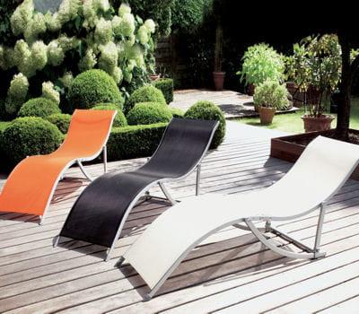 Envie d 39 une pause d tente s lection de chaises longues - La redoute chaise longue ...