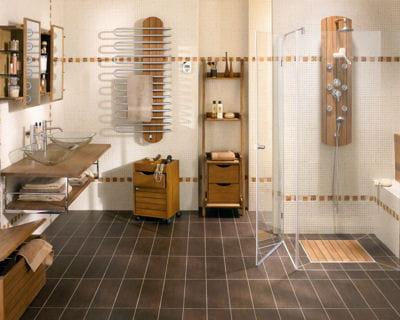 Envie d 39 ailleurs 20 salles de bains l 39 esprit d co for Faience murale salle de bain lapeyre