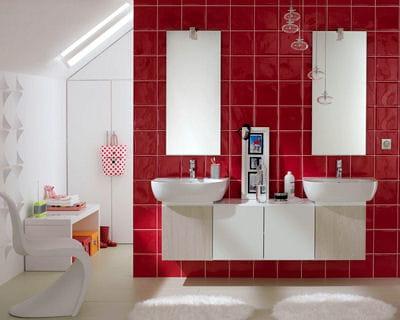 Pour toute la famille 20 salles de bains l 39 esprit d co for Salle de bain modele deco