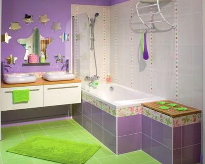 pour les plus jeunes 20 salles de bains l 39 esprit d co journal des femmes. Black Bedroom Furniture Sets. Home Design Ideas