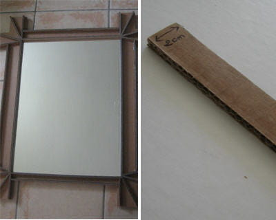 4 d couper les traverses r aliser un miroir photophore for Miroir adhesif a decouper