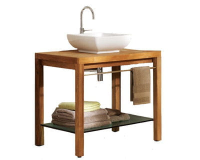 Une salle de bains raffin e moins de 1 100 euros une salle de bains moi - Meuble vasque lapeyre ...