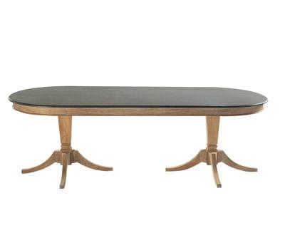 D ner royal quand les meubles s 39 imposent dans la maison journal des femmes - Table beton maison du monde ...