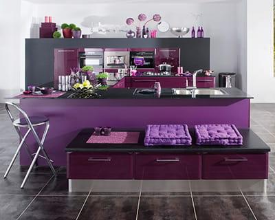 Vive la couleur 25 cuisines dans tous les styles journal des femmes - Lapeyre cuisine carat ...