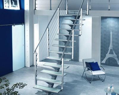 En m tal et verre les escaliers font la d co journal - Escaliers lapeyre metal ...
