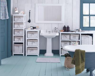 Ambiance bord de mer et si on changeait de salle de for Fly meubles salle de bain