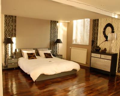 Apr s cama eu de brun gris et beige avant apr s les chambres changent de d co journal for Decoration chambre camaieu orange