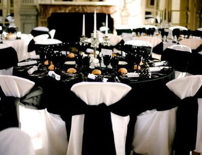Black and white un mariage chic et baroque 12 d corations de mariage pour - Deco mariage baroque chic ...