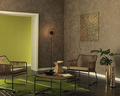 effet soyeux peinture des murs hauts en couleurs. Black Bedroom Furniture Sets. Home Design Ideas