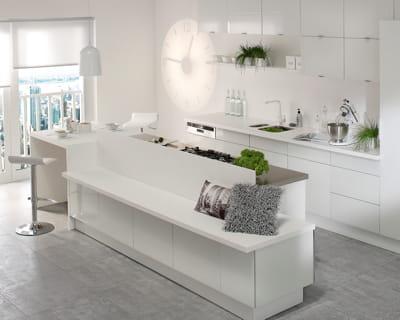 Blanc comme neige j 39 adopte la cuisine ouverte l - Avis cuisine leroy merlin ...