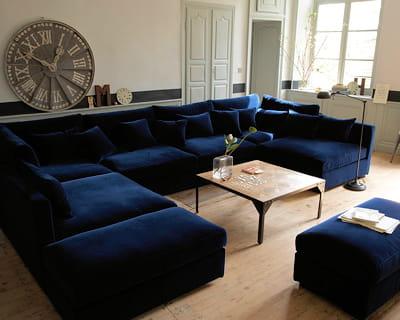 Bleu nuit des salons pour tous les styles journal for Tous salons