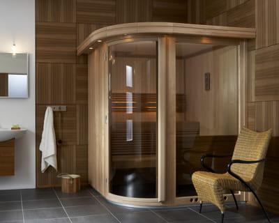 sauna nordique pause d tente dans la salle de bains journal des femmes. Black Bedroom Furniture Sets. Home Design Ideas