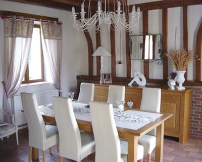 Entre rustique et contemporain 10 maisons de lectrices - Decoration salle a manger rustique ...