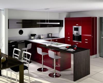 rouge bordeaux des cuisines vivre journal des femmes. Black Bedroom Furniture Sets. Home Design Ideas