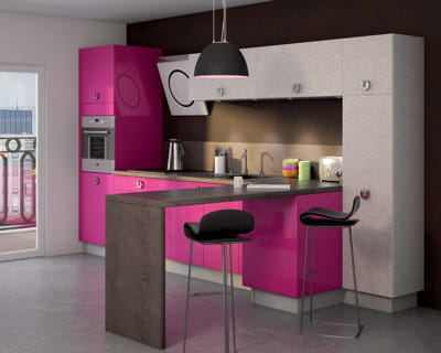 fuchsia des cuisines vivre journal des femmes. Black Bedroom Furniture Sets. Home Design Ideas