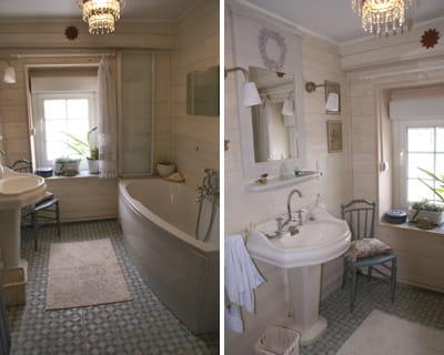 Le bain l 39 heure r tro for Deco salle de bain campagne