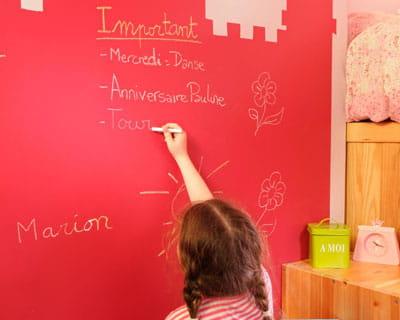 Un tableau pour s 39 amuser focus sur la peinture ardoise for Dessiner sur un mur peinture