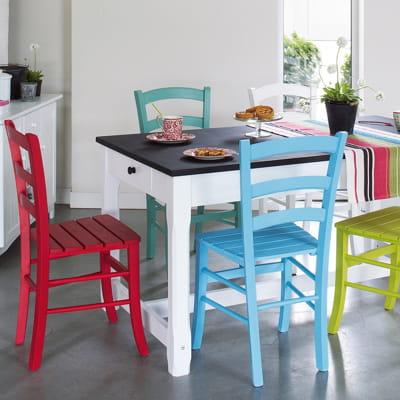 Chaise customiser de la maison de val rie des chaises tendance pour habil - Habiller des chaises ...
