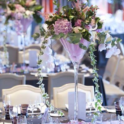 ... de wedding planners Mariage tendance chic : la composition florale