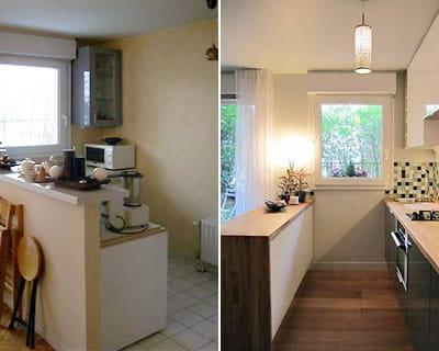 La configuration de la cuisine avant apr s lifting for Cuisine configuration