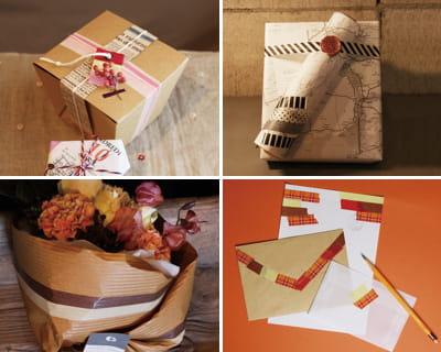 pour embellir papier cadeau et correspondance le masking. Black Bedroom Furniture Sets. Home Design Ideas