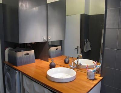 Salle de bain gris bois meilleures images d 39 inspiration for Salle de bain bois et gris