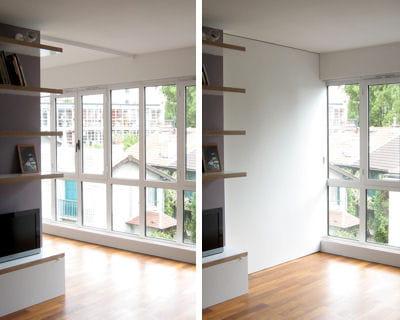 un mur coulissant pour s parer les espaces un 40 m plus fonctionnel et lumineux journal des. Black Bedroom Furniture Sets. Home Design Ideas