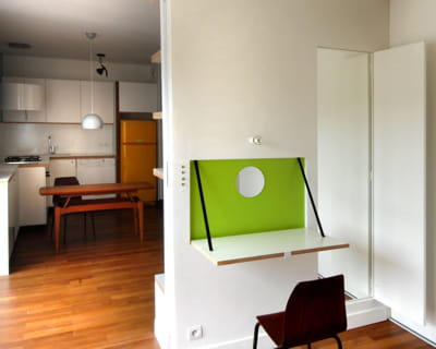 pratique et gain de place un 40 m plus fonctionnel et lumineux journal des femmes. Black Bedroom Furniture Sets. Home Design Ideas