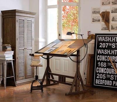 bureau p rim tre en m tal et manguier massif d 39 am pm je veux un style atelier dans mon. Black Bedroom Furniture Sets. Home Design Ideas