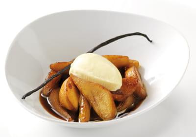poêlée de pommes et poires caramélisées.