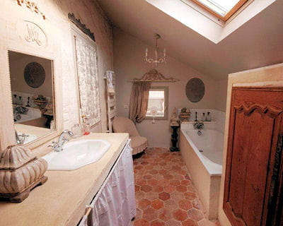 Campagne chic - Salle de bain style campagne chic ...
