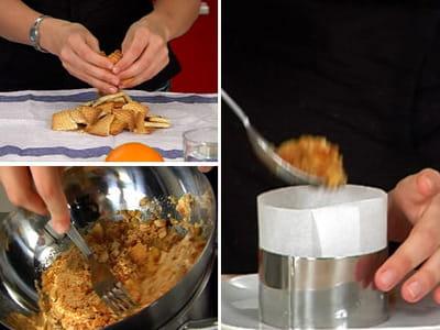 préparer la base biscuitée