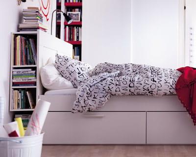 Un lit qui cache bien son jeu les nouveaut s du for Ikea taille du cadre de lit