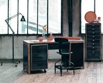 Bureau manufacture de maisons du monde faites place for Lampe de bureau maison du monde