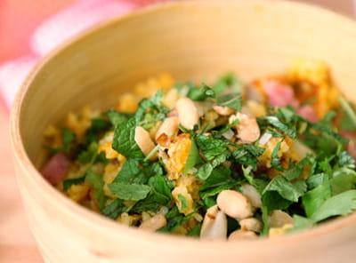 le riz qui croustille, une recette de nathalie.