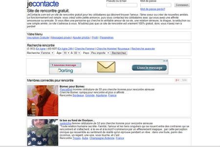 Capture d'écran jecontacte.com © DR