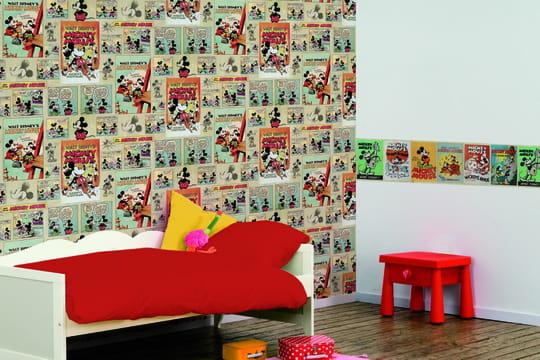 chambre d 39 enfant les tendances papier peint et tissu journal des femmes. Black Bedroom Furniture Sets. Home Design Ideas